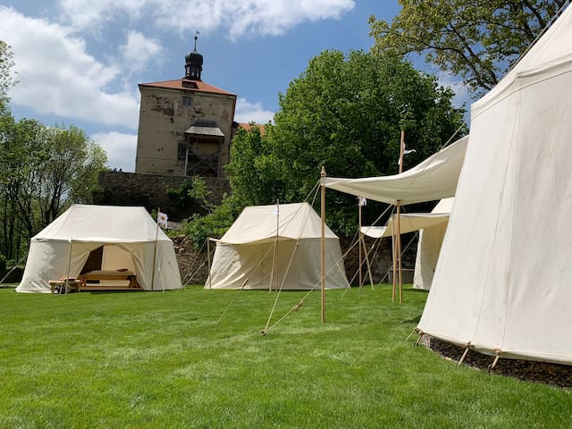 ROSE tent - Medieval Glamour Camp
