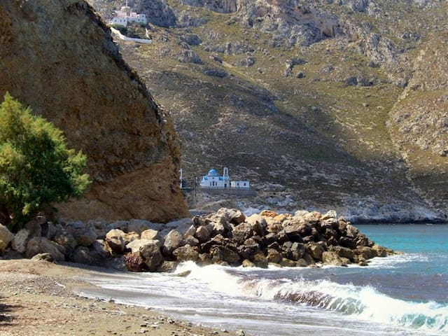 Kalymnos: Sunny apartment just 50 m to the beach