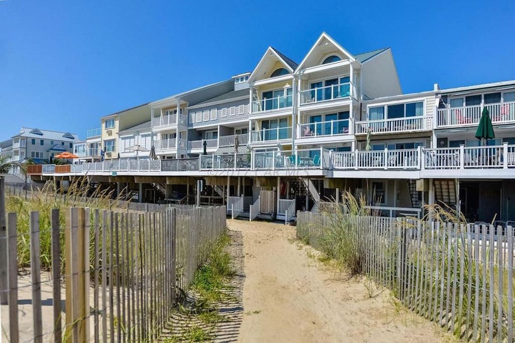 Completely renovated 3 story oceanfront townhouse