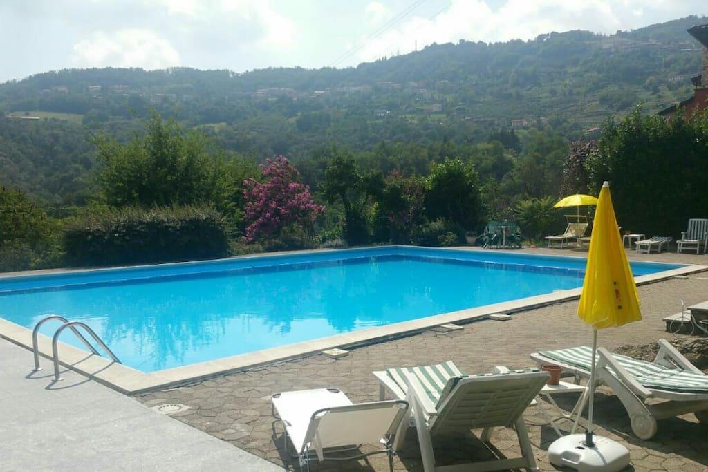 Grande terrazza e piscina condivisa appartamenti in for Bagno della piscina