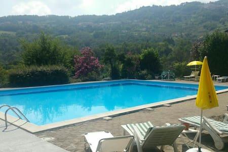 Grande terrazza e piscina condivisa. - Gandosso - Lakás
