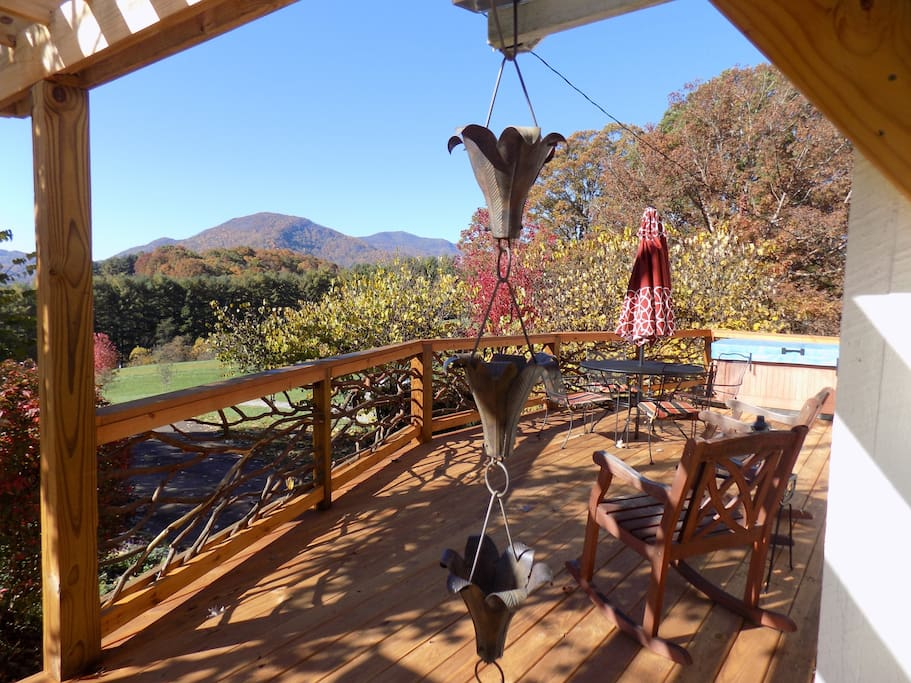 Outrageous colors and views from the deck (and hot tub) in Autumn.