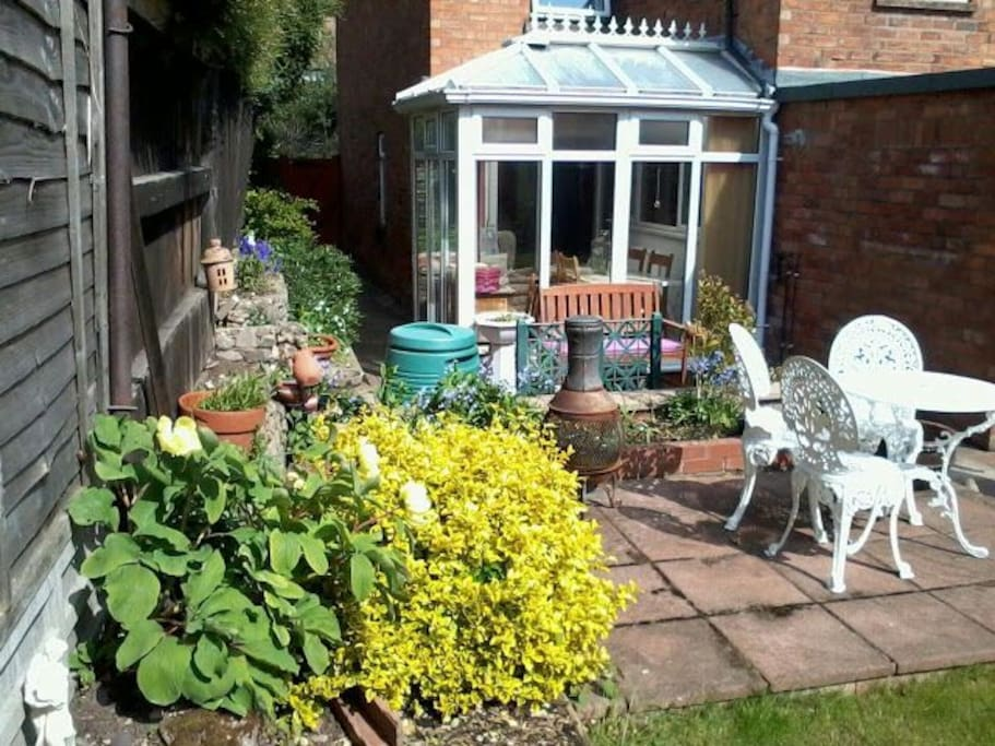 Sunny garden to relax in