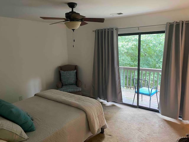 master bedroom with brand new queen bed