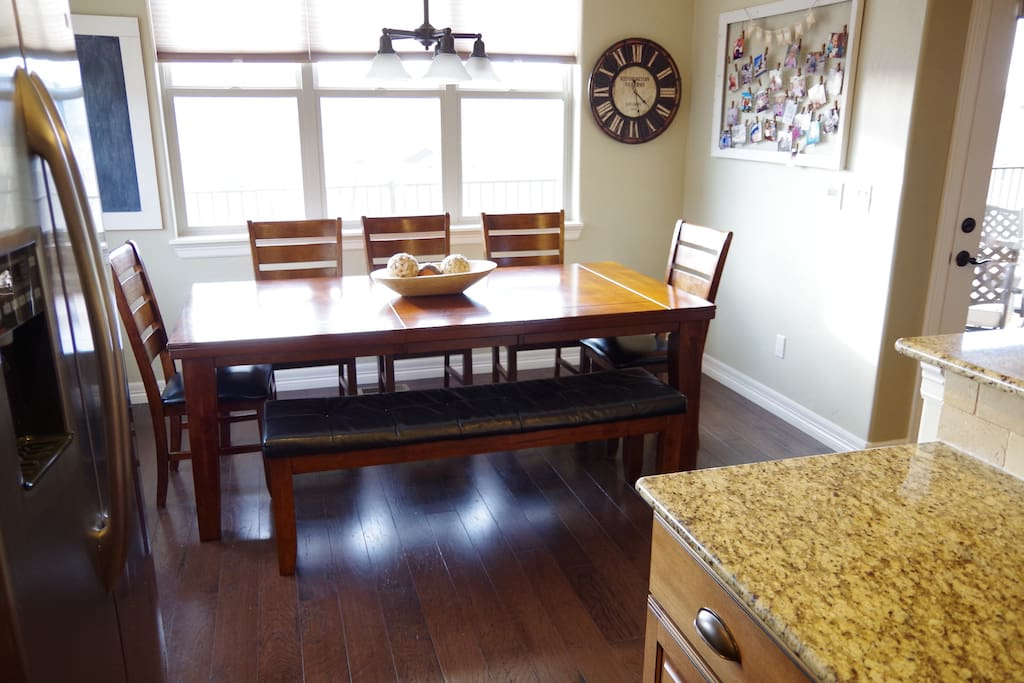 Large table easily seats 8