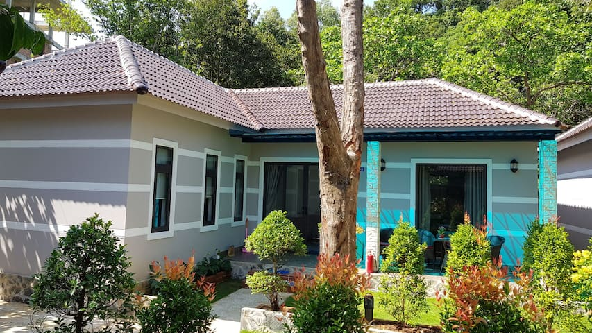 Two Bedrooms Villa with pool, close to the beach