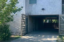 Your carport with gate to pool area in the back