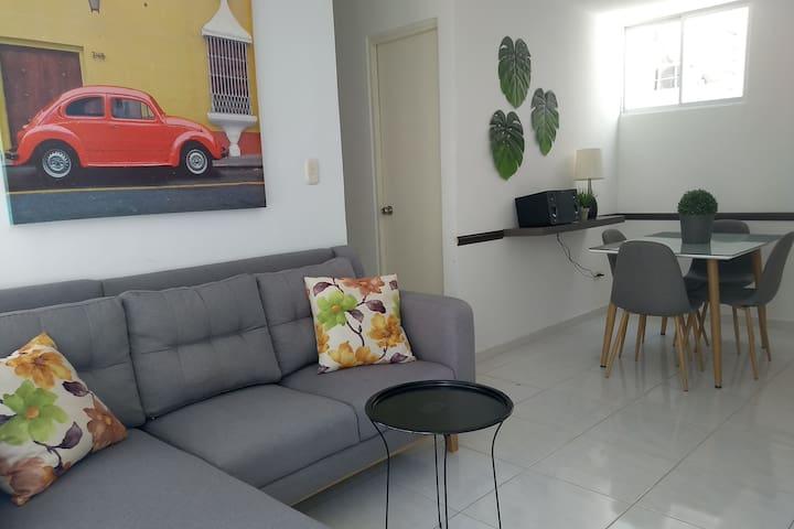 Hermoso y moderno apartamento amoblado.