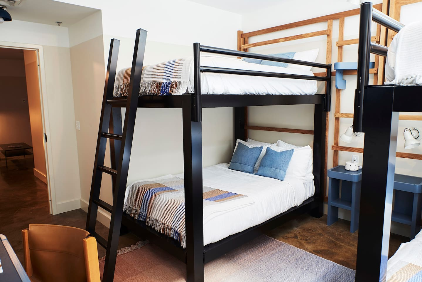 Each bunk room has four, full-sized beds, tons of pillows, and TV with full DirecTV.