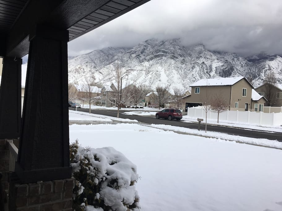 Mountain view from front porch