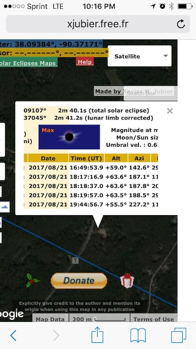 2 min & 41 sec TOTALITY viewing from our property