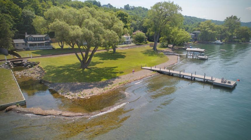 Cayuga Lake house with 200 ft. of Lakefront!