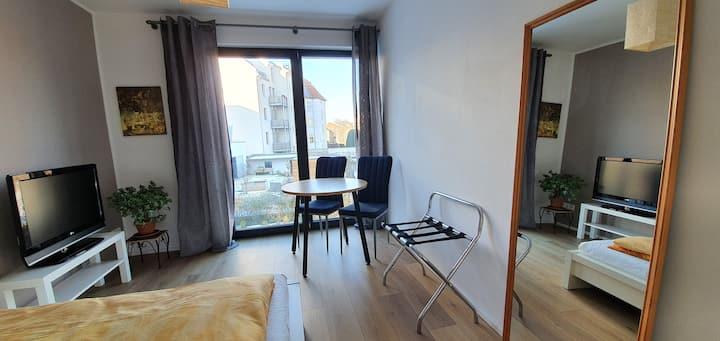 Doppelbettzimmer mit Gartenblick in Leipzig-West