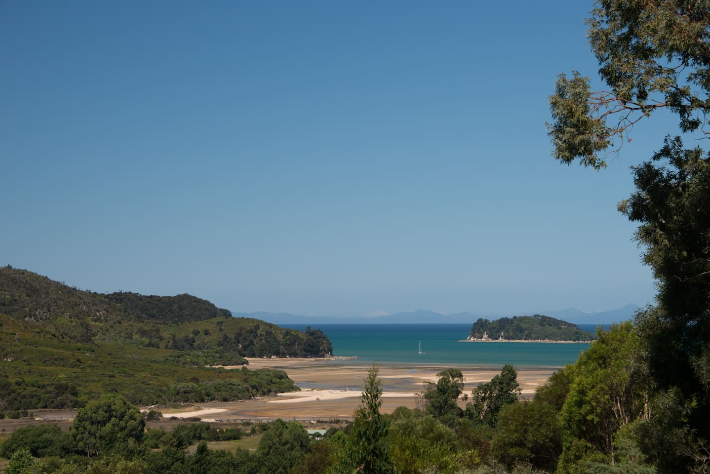View from the loft, Abel Tasman National Park and Fisherman Island