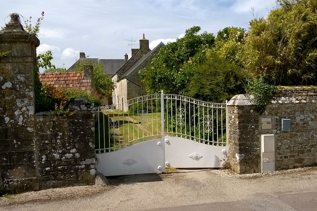 Main gate to property