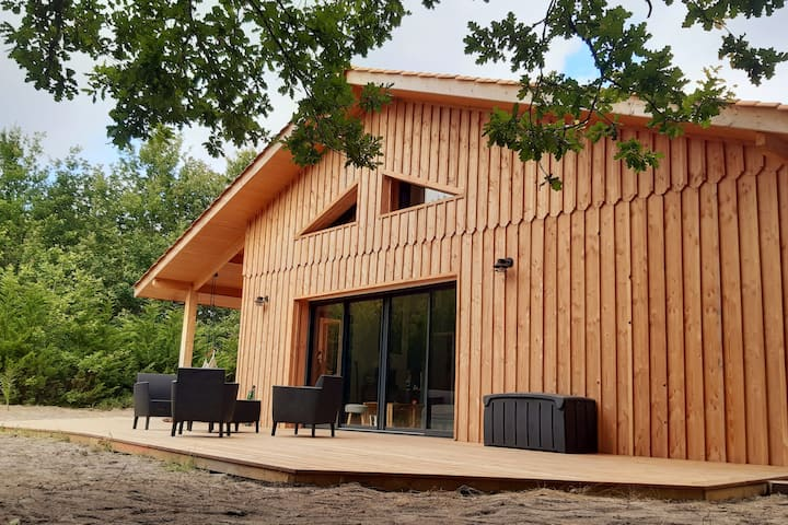 Maison bois à Biscarrosse