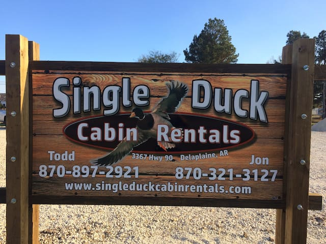 Single Duck Cabin Rentals (2 separate Cabins)