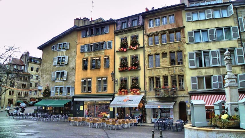 Charming, old town of Geneva