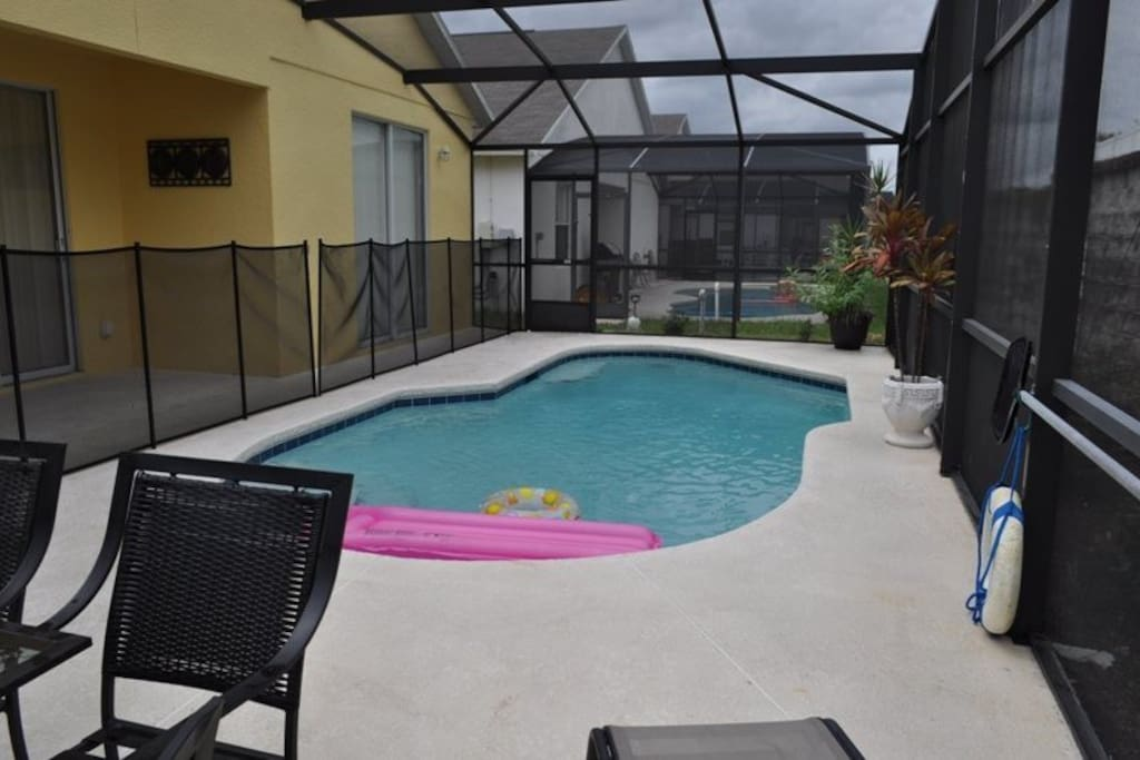 This deck is the perfect place to get a tan under the Florida sun. When it gets too warm for you - jump in to the pool or go and sit under the shaded