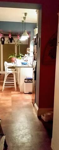 Hallway/kitchen area
