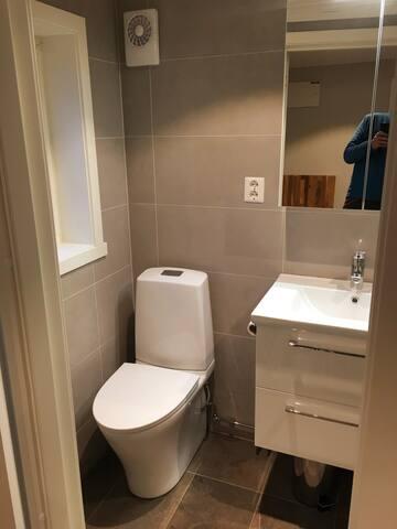 Annex, bad med toalett. Pusset opp i 2018