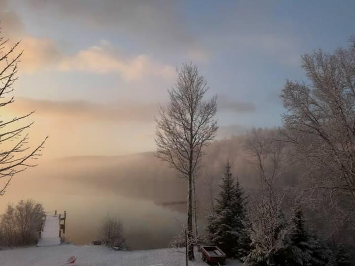 Chalet avec lac Charlevoix et Saguenay CITQ 303319