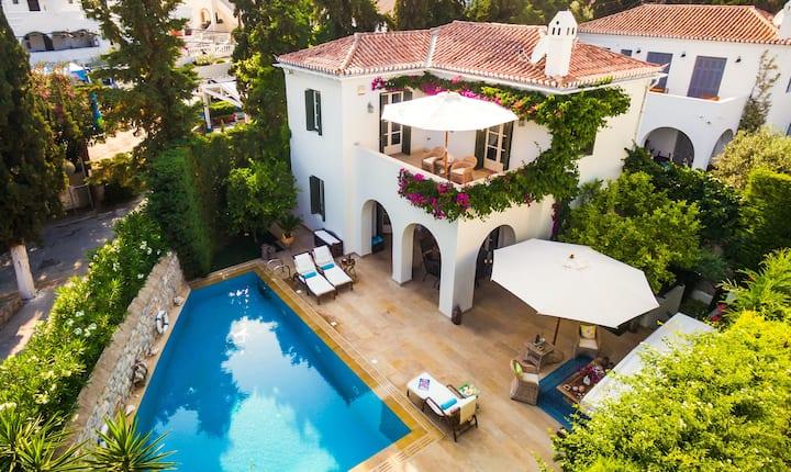 Villa de 6 chambres à Spetses, avec piscine privée, jardin clos et WiFi