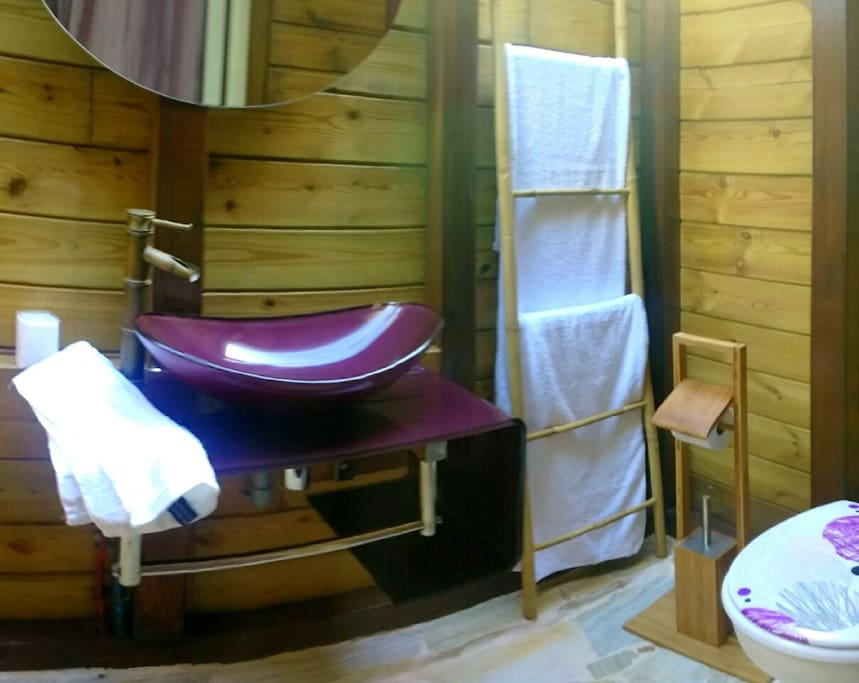 Salle de bain ouverte et couverte