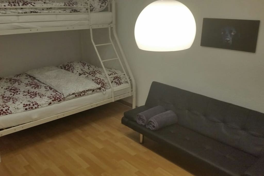 Triple Bed and Couch-Beds