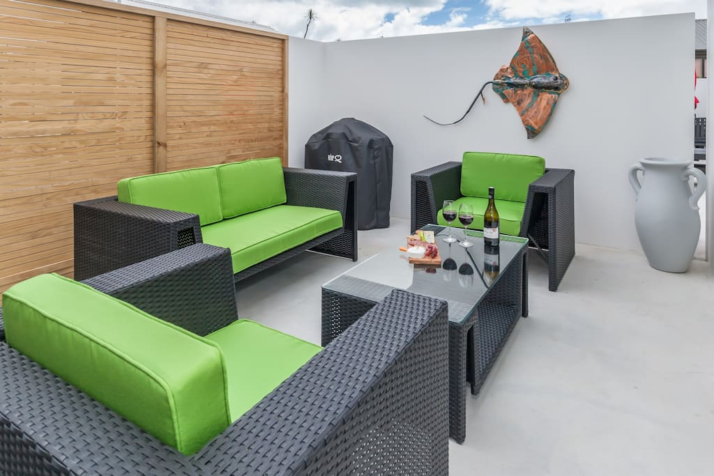 The private patio also gives access to your lounge and bedroom.