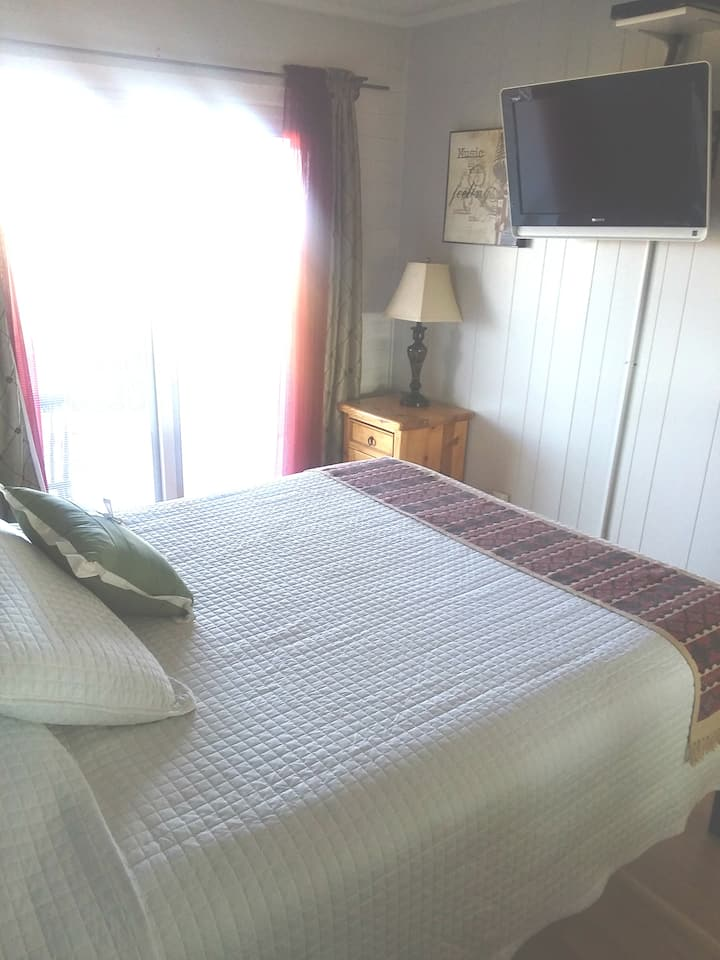 Queen Bed with kitchenette