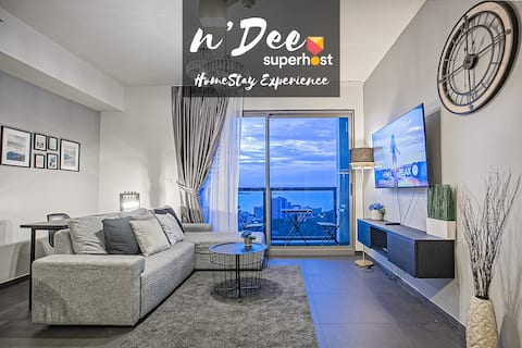 【n'Dee®  180° SEA VIEW】HIGH FLOOR, 6PAX, NETFLIX