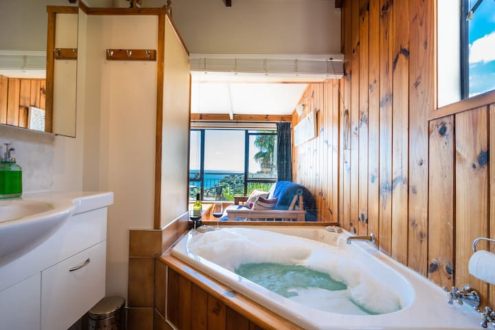 OCEAN AND TV VIEW FROM YOUR SPA BATH