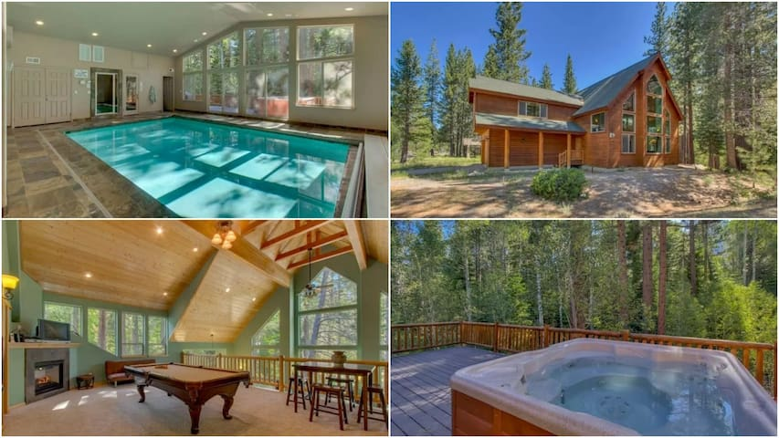 Indoor Pool & HotTub & 6 BED 6 BA in Lake Tahoe !! - South Lake Tahoe - House