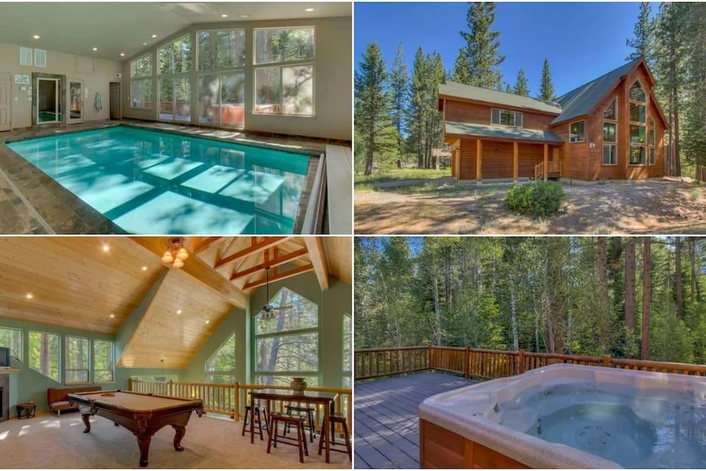 Riverside 6 Bed 6 Bth Indoor Pool Hottub Sauna Houses For Rent In South Lake Tahoe