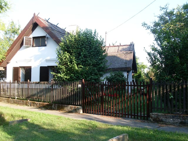 Traditional Reed Roof House in Balatonberény
