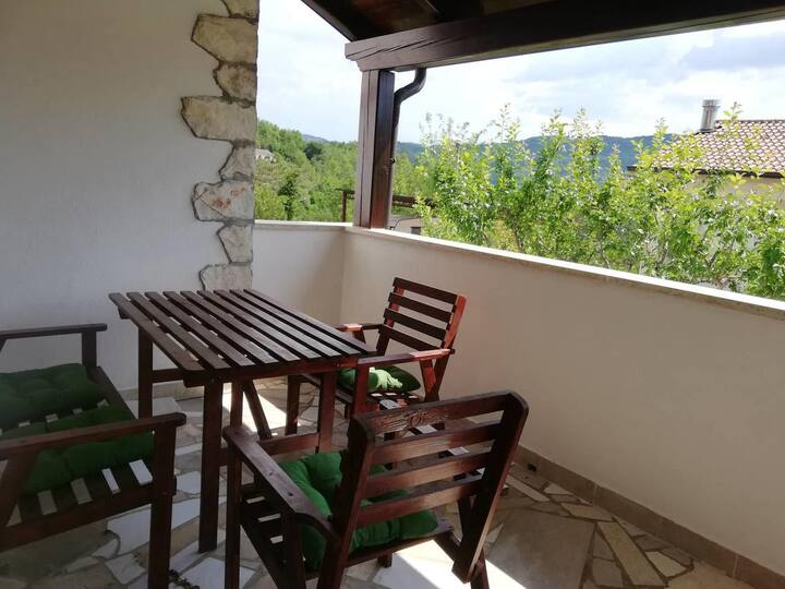 Two bedroom apartment with terrace Buzet, Central Istria - Središnja Istra (A-17562-a)