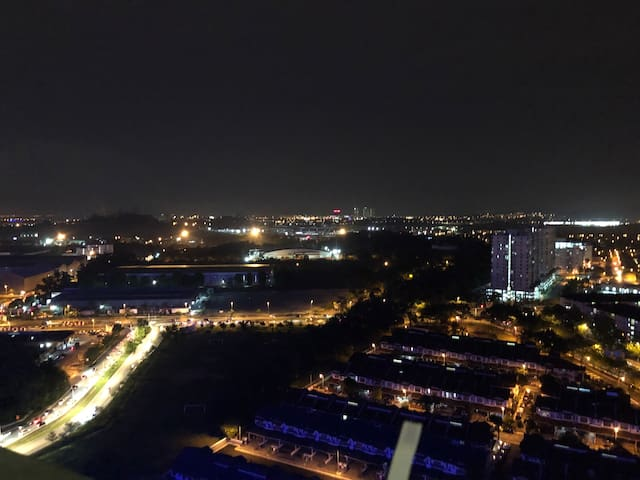 Night view from balcony