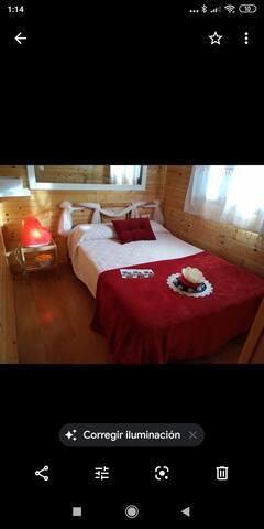 Autenticas cabañas de madera, equipadas totalmente