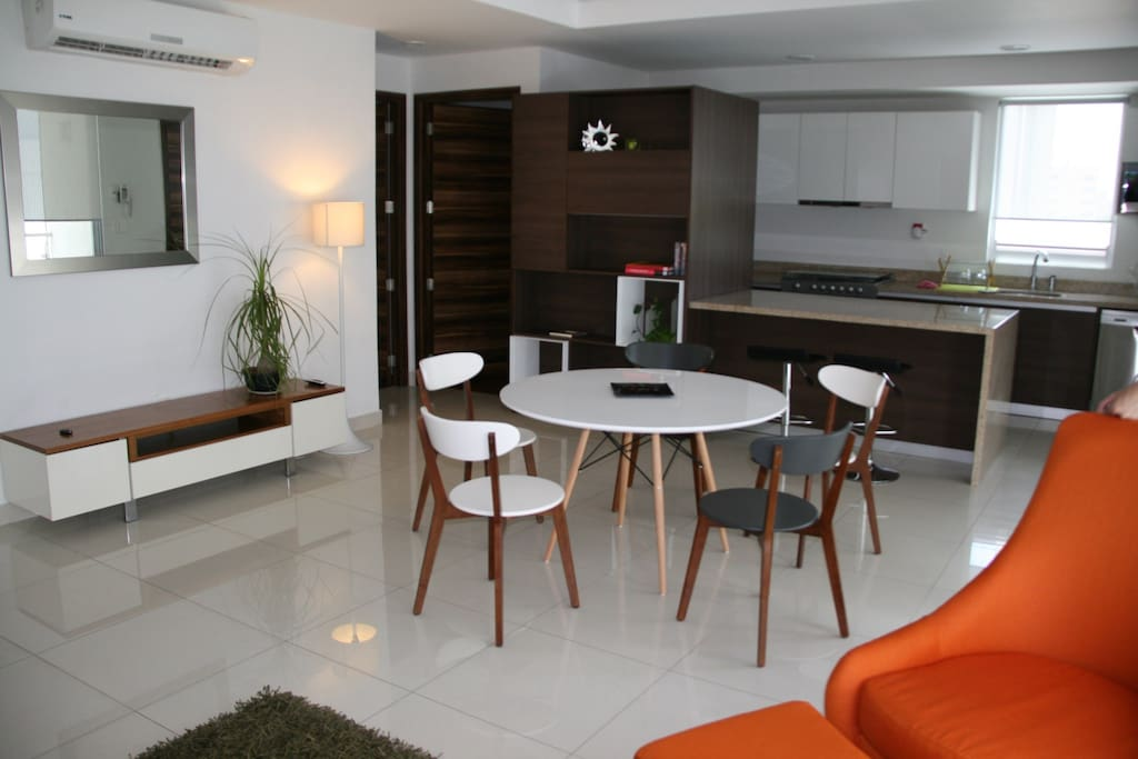 Spacious living and dining room, ideal for families