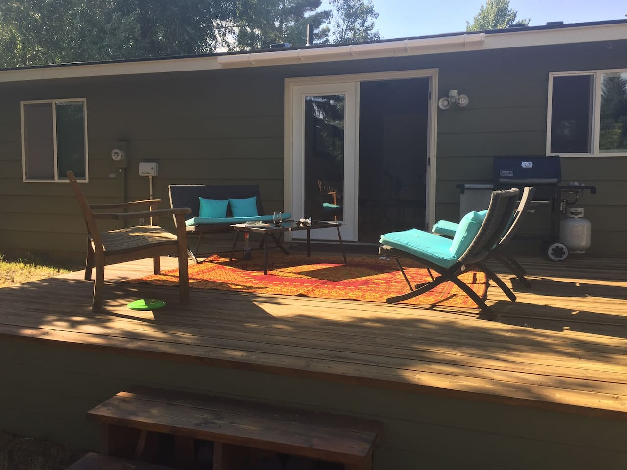 Deck with conversational area and BBQ