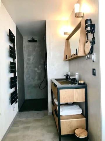 Salle de bain douche chambre sanders