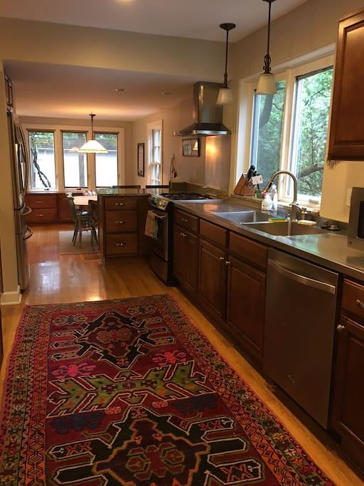 kitchen, modern appliances