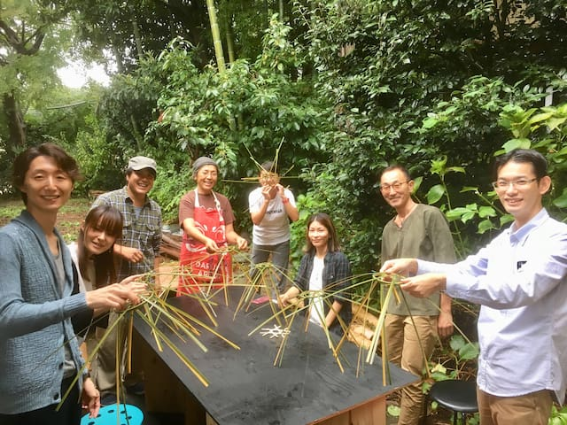 An event at my parent's house nearby in 2018.  Bamboo making workshop.