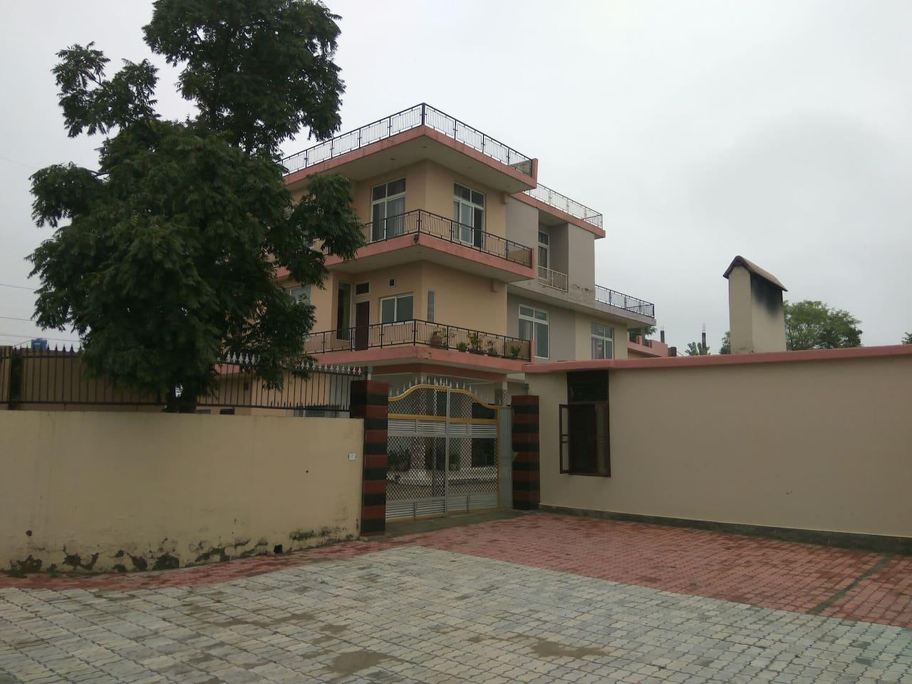 Main entrance to the Saini Farm House