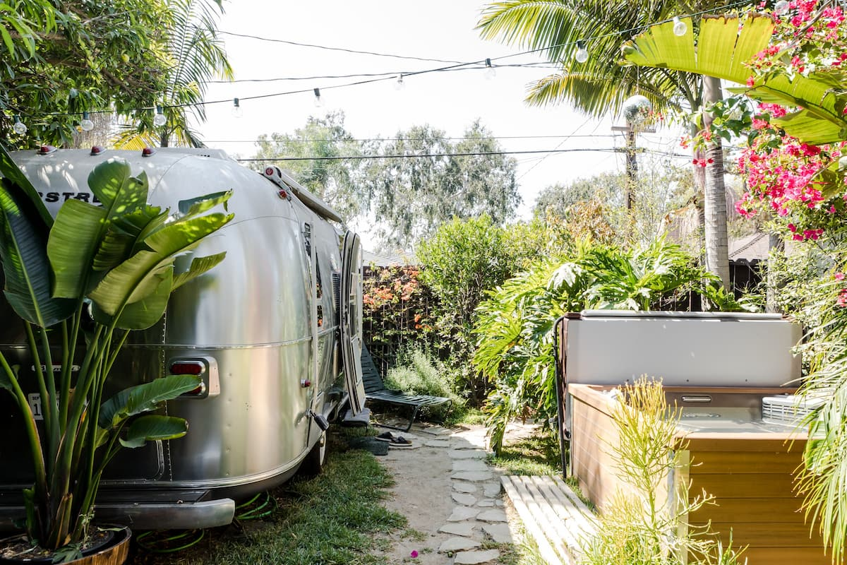 Bike to the Beach from an Airstream with a Hot Tub