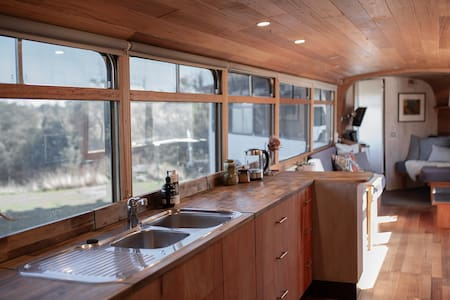 The Bus. Eco-luxe hideaway.