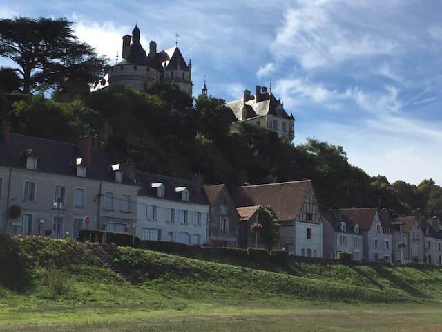 Au pied du château de Chaumont et face à la Loire