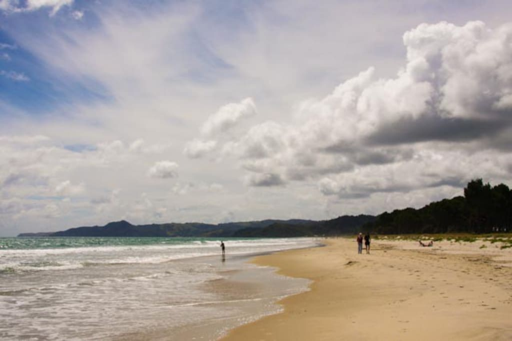 Beautiful safe swimming beach...