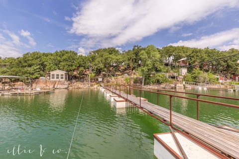 Lake Cisco waterfront home with large private dock
